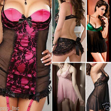 Valentine's Day Sexy Lingerie Teddies Plus Size Babydoll Lacy Pink Black New USA