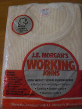 J.E. MORGAN cotton HeavyWeight THERMAL Underwear LONGSLEEVE SHIRT Made in USA JE