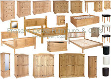 Premium Corona Solid Mexican Style Pine Bedroom Furniture with Rustic Finish