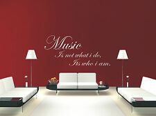 wall art quote mural decal sticker music 2 music is not what i do its who i am