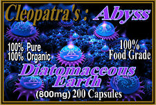 Organic Diatomaceous Earth Capsules Food Grade - Cleopatra's Abyss 800mg 200Caps