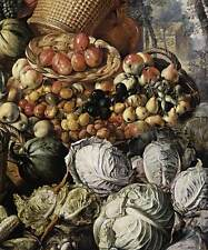 Photo Print Market Woman with Fruit, Vegetables and Poultry detail Beuckelaer,