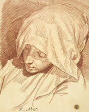 Photo Print: Greuze Jean Baptiste Head Of A Woman In A Hood #jwnh1923