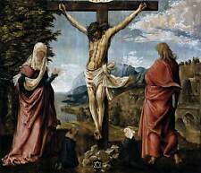 Photo Print Christ on the Cross between Mary and St John Altdorfer Albrecht - i