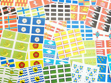 Mini Sticker Pack , Self-Stick English Counties Self-Adhesive Flag Labels