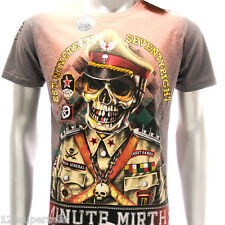 m206o Minute Mirth T-shirt Tattoo Skull Soldier Hilarious Funny Punk Ghost Tee
