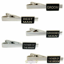 Wedding Tie Clip Clasp Bar Groom Best Man Father of the Bride Groom