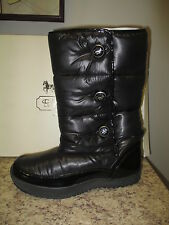 Coach Polina Shiny Nylon Snow Winter Boot Black A7590 New w/ Box 100% Authentic