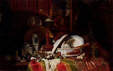 Photo/Poster - Trinquier Antoine Guillaume Still Life With Dishes A Vase A Candl