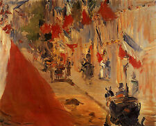 Art Photo Print - Rue Mosnier Decorated With Flags - Manet Edouard 1832 1883