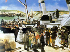 Art Photo Print - Departure Of Steam Folkestone - Manet Edouard 1832 1883