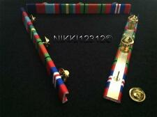 WW2 1939-45 STAR + PACIFIC STAR + DEFENCE + WAR MEDAL RIBBON BAR OAK LEAF OPTION