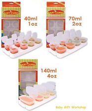 BABY WEANING PUREE/FOOD STORAGE POTS / CUBES / CONTAINERS TRAYS & LIDS  BPA FREE