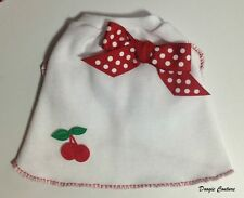 MERRY CHERRIES Knit Dog T-Shirt Clothes Size XXXS-Medium by Doogie Couture