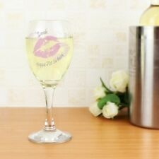 Personalised Kiss Shot Wine Glass 18th 21st 30th 40th Any Age Birthday Gift Idea