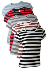 Continental Ladies Striped Cotton T -Shirts