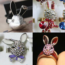 New Lot Fashion Rabbit More Styles Mixed Colors Crystal Rhinestone Metal Rings