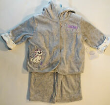 Baby Girls Disney Marie Aristocats Hooded 3 Piece Outfit Set Newborn | 0-3 | 3-6