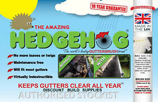 Original Hedgehog Gutter Brush Guard Products  All Sizes , Clips Multi Listing