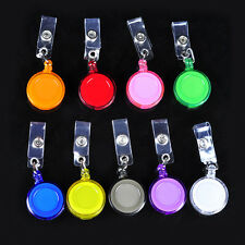 100pcs Badge ID Holder Reel Retractable Key Clip Office Wholesale