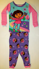 Baby Girls Dora the explorer birds and flowers 2pc sleepwear set pjs size 12m
