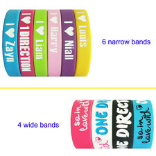 So in love with ONE DIRECTION silicone rubber wristbands bracelets love heart 1D