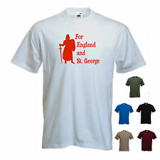 'For England and St. George' mens St George's/ Georges Day England T-shirt