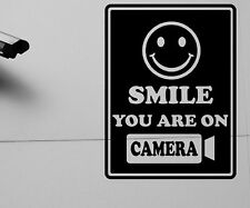 Aufkleber Wandtattoo Videoüberwachung Camera Smile Tattoo Sticker 1S039_1