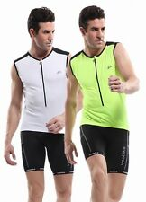 SALE!! New VEOBIKE Outdoor Cycling Sleeveless Jersey + BIB Shorts With 6D Padded