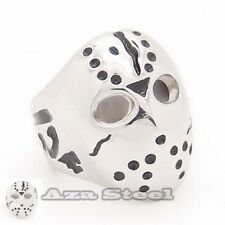 Men's Friday the 13th Jason's Mask Stainless Steel Ring Size 8,9,10,11,12,13,14