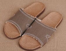 LOHAS Natural Jute Hemp Flax Sandals Slippers Flip Flops Slides - men