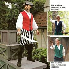 Caribbean Cotton Pirate Vest Green/Red/Blue Perfect Costume Re-enactment & LARP