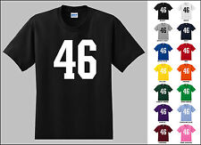 Number 46 Forty Six Sports Number Youth Jersey T-shirt Front Print