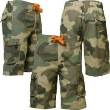 Mens Sth. Shore MS 28126 new camouflage army cargo combat shorts size S-L