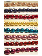 GLASS PEARLS BEADS PEARLESCENT GLASS PEARL ROUND LOOSE BEADS 16MM EXTRA LARGE