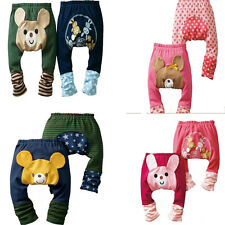 Boys Girls Kids Toddler Cute Pattern Pants Baby Warmer Cotton Pants Trousers