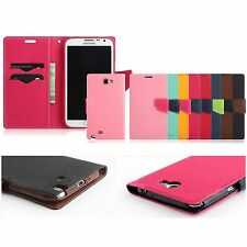 MERCURY PU Leather Fancy Diary Wallet Cover Case For Samsung Galaxy Note1 N7000