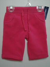 OLD NAVY Girl's Pink Fleece Pants Size 0-3 mos,3-6 mos,6-12 mos NWT