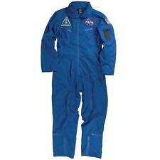 Alpha Industries NASA Astronaut Flight Suit w/patches! color Blue