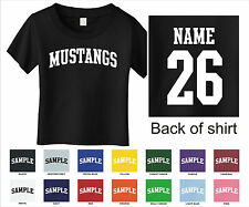Mustangs Custom Personalized Name & Number Infant or Toddler T-shirt