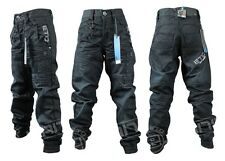 BRAND NEW BOYS EB351 ETO BRAND DARKWASH CUFFED JEANS. SIZES 24-29  >SALE PRICE<
