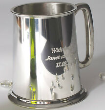 Luxury Engraved Pewter Pint Tankard - Male gifts for the Wedding party