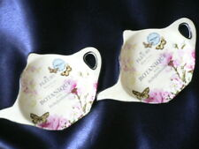 Porcelain Tea Bag Holder (set of 2)..4 styles to choose..one of a kind