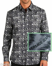 NWT Versace Jeans by Gianni Versace Leopard Logo Print Sport Shirt