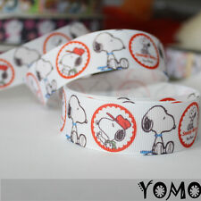"1""25mm Snoopy  Printed Grosgrain Ribbon 10/50/100 Yards Hairbow Wholesale"