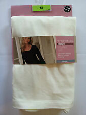 NEW MARKS AND SPENCERS HEAT GENERATING THERMAL LONG SLEEVE T-SHIRT   CREAM
