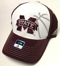 NCAA Mississippi State Bulldogs Adidas Flex Fit Pro Shape Structured Hat Cap NEW