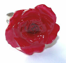 Unique Jewelry Real Rose Flower Ring hand crafted
