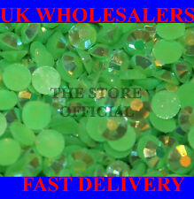 1000 Flat Back Green AB 14 Facets AB Resin Rhinestones Not Acrylic