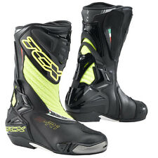 TCX S-R1 Perforated Motorcycle Race Boots - Black / Fluo Yellow